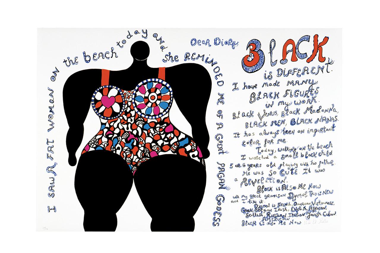 Niki de Saint Phalle. Black is different.