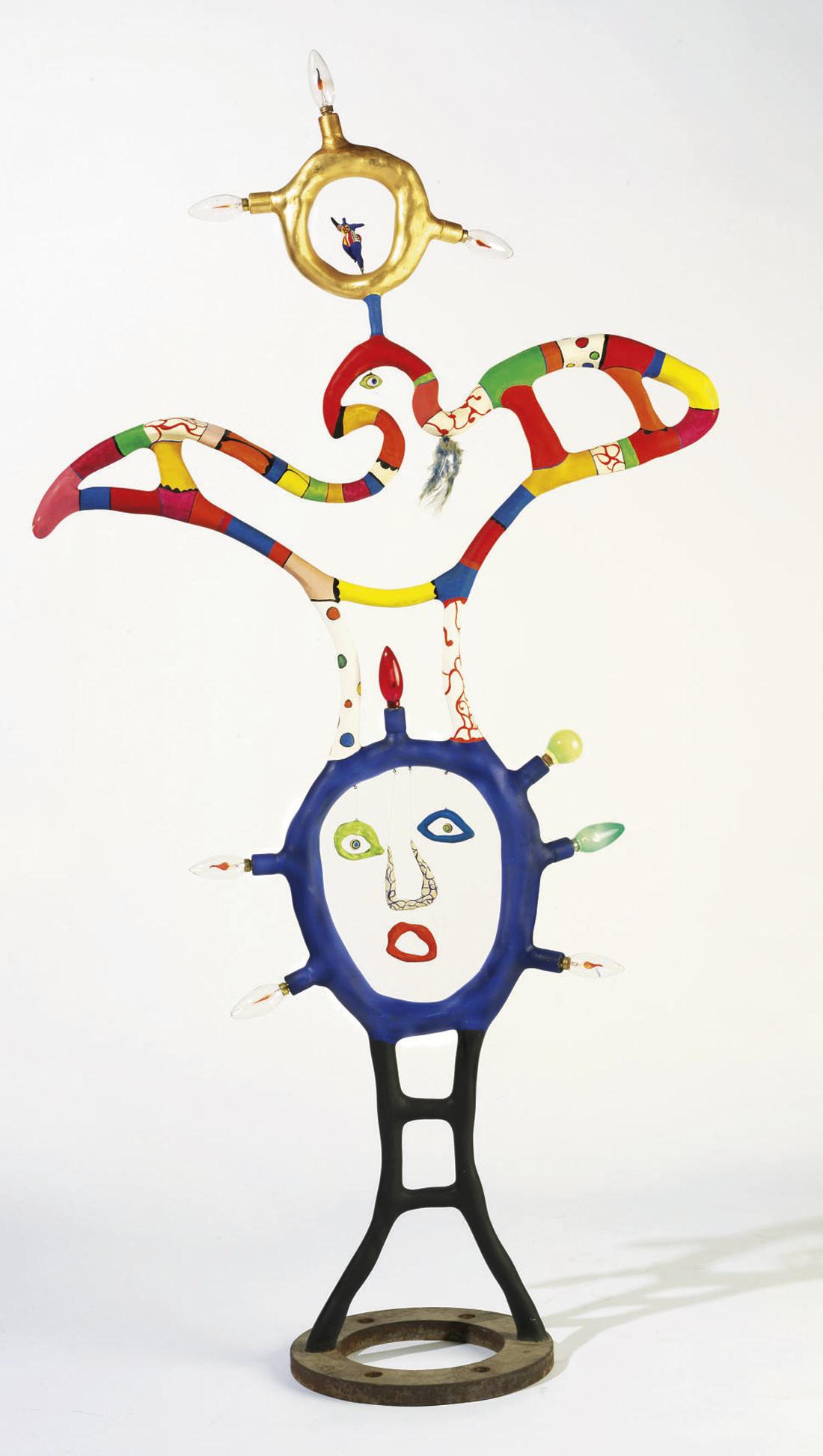Niki de Saint Phalle. La déesse de la lumière (avec Nana) 1981