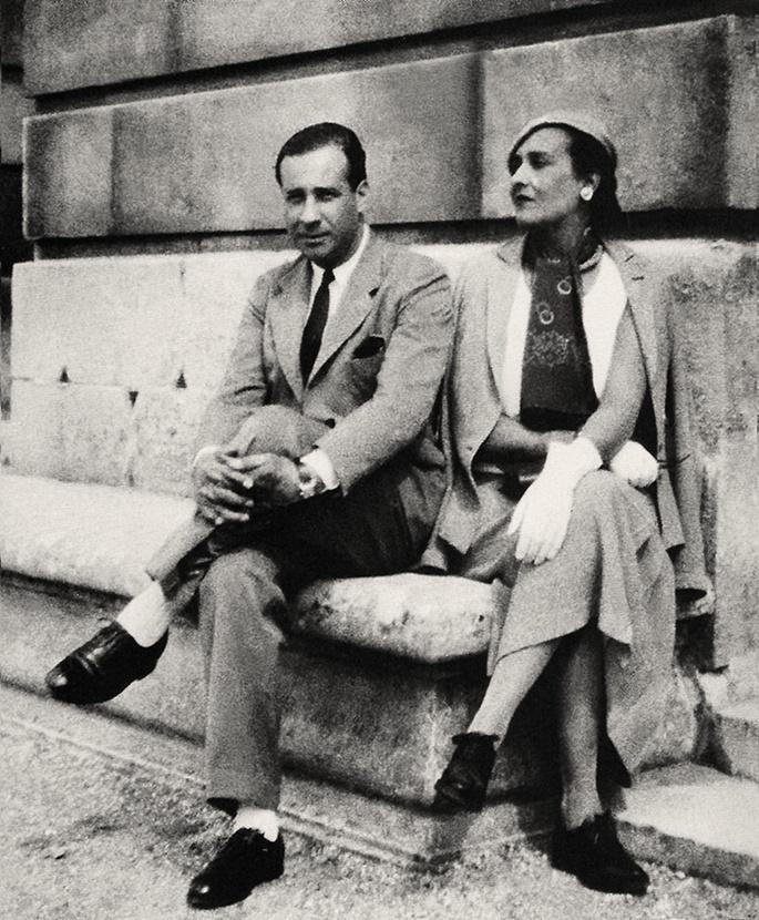 Vcitoria Ocampo y Eduardo Mallea