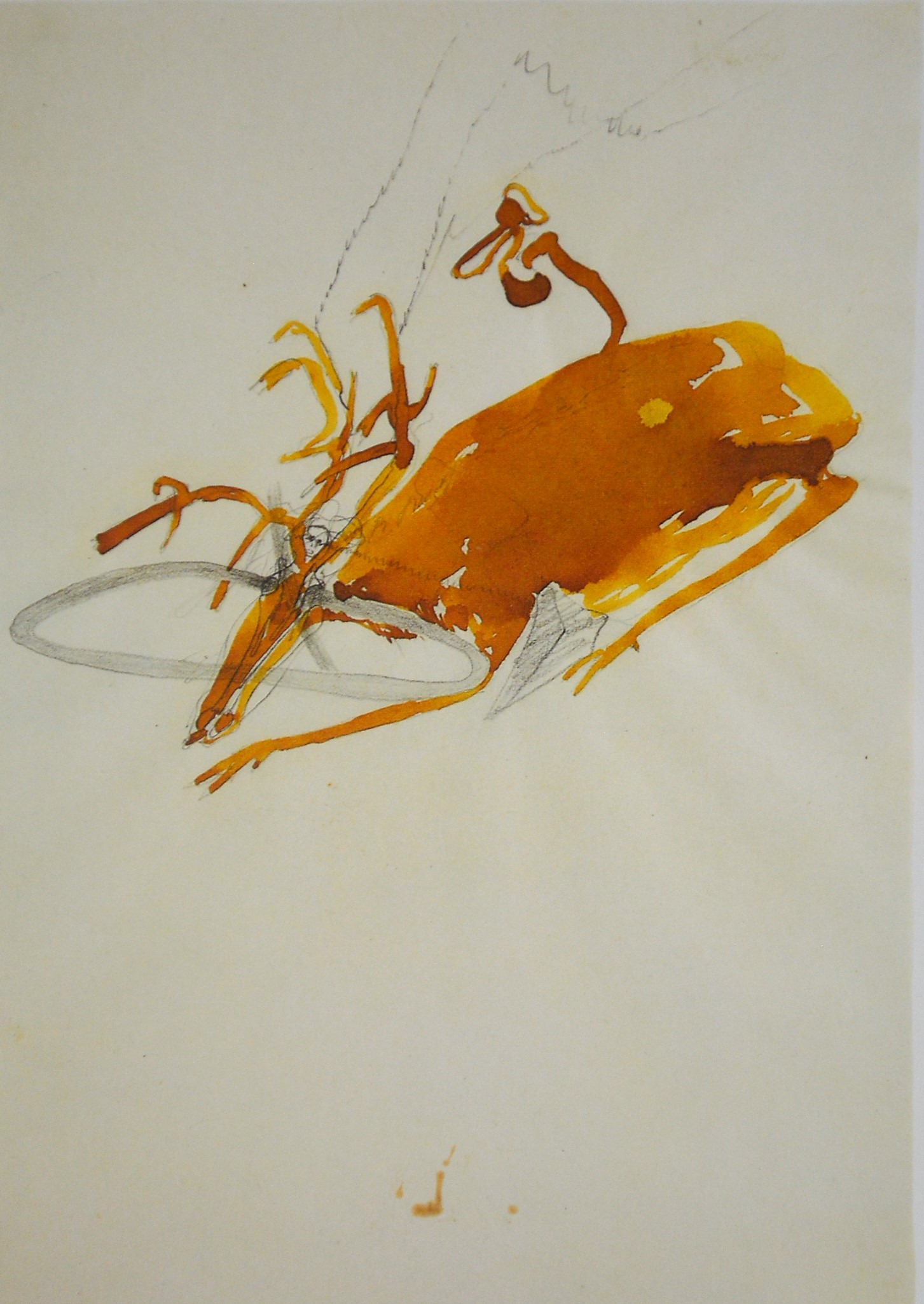 Joseph Beuys. Stag with Human Head, 1955