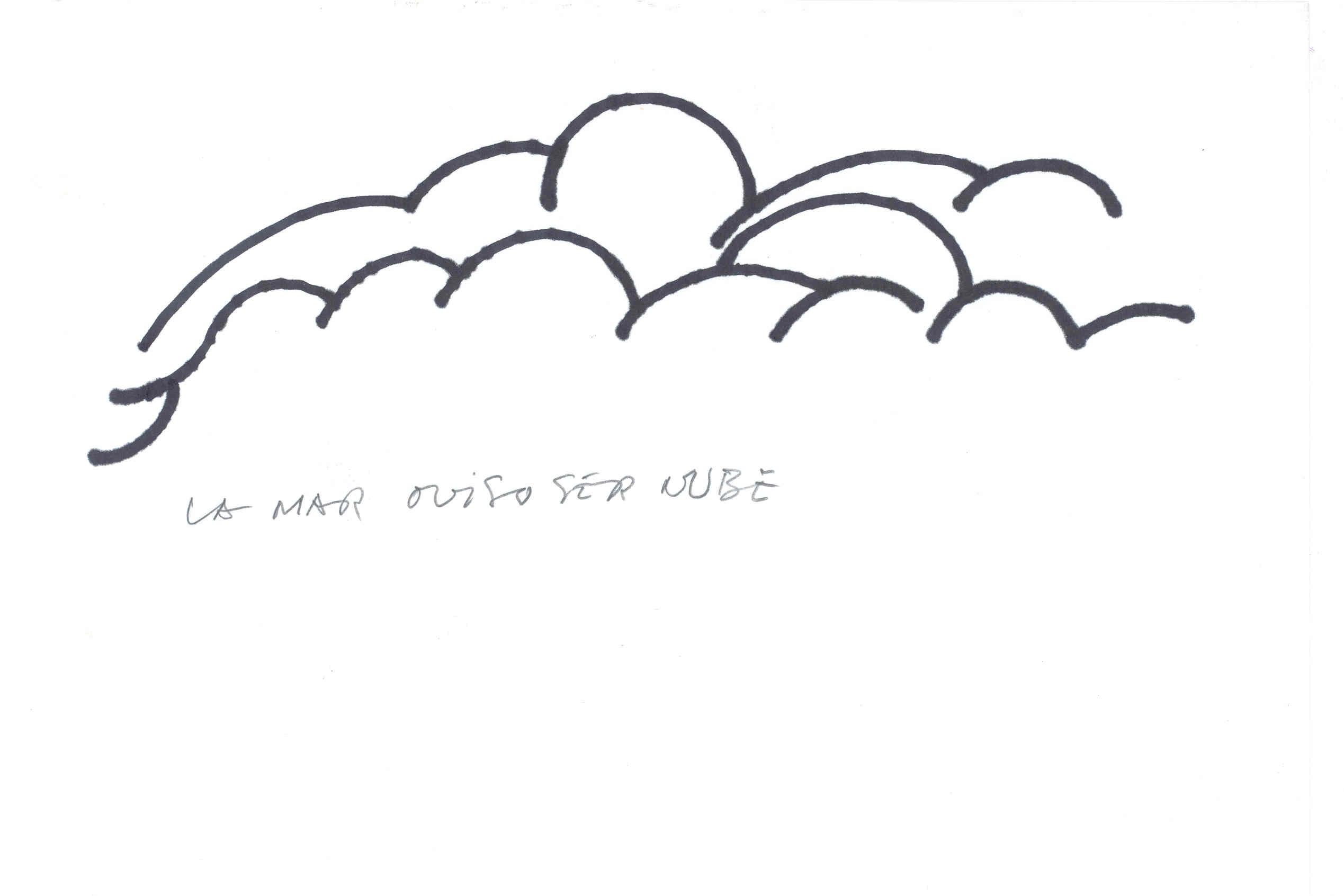 DIbujo de Nubes de Chillida