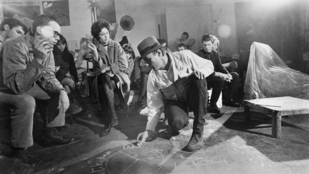 Joseph Beuys con sus estudiantes