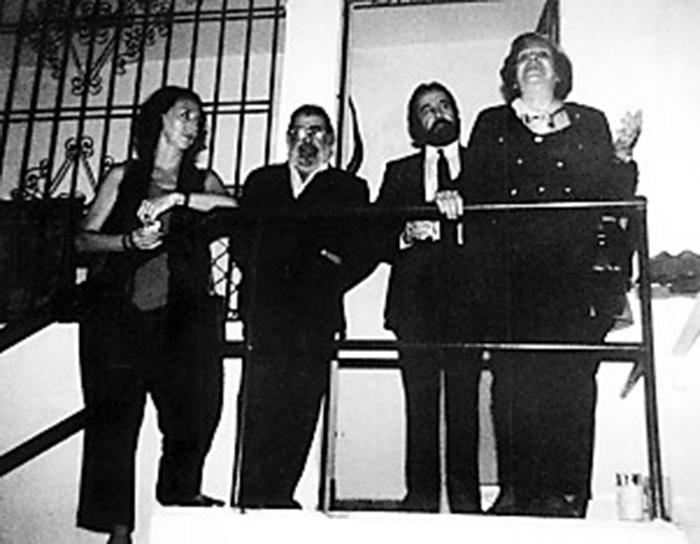 Veronica Oddo, Juan Carlos Gene, Luis Molina y Maria Teresa Castillo en la sede del CELCIT en San Bernardino.