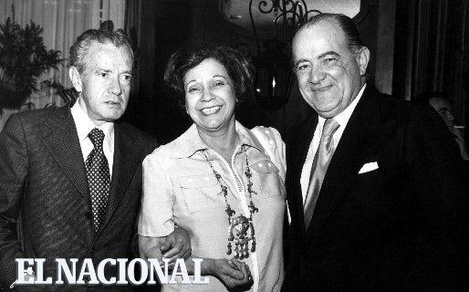 Juan Rulfo, María Teresa Castillo y Miguel otero Silva