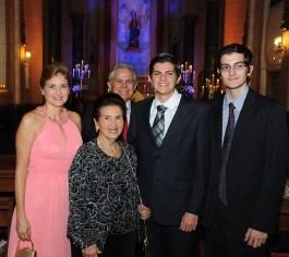 Heliana y Mariana Pardi, Rafael Naranjo, Gabriel y Roberto Naranjo Pardi