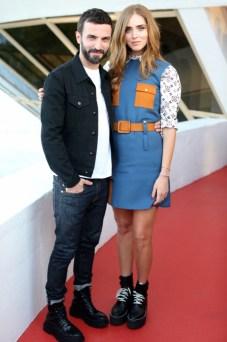 Nicolas Ghesquiere y Chiara Ferragni