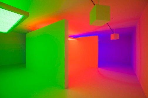 """Carlos Cruz Diez """"LIGHT SHOW"""" - Museum of Contemporary Art Australia"""