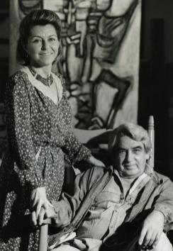 Janine y Oswaldo Vigas en el taller de Los Dos Caminos de Caracas, 1989 (II)