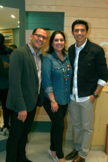 Leonardo Palma, Denisse Valdebarrano y Leo Aldana
