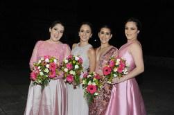 Las madrinas de honor: Valentina París, Andrea Cadena, Valentina Lazo y María Silvia Briceño