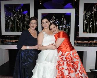 Tres generaciones: Gloria Stolk de Egui, Gloria María Benatuil de Da Silva y Gloria María Egui de Benatuil