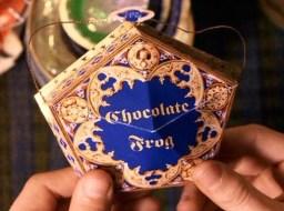 """Após um primeira tentativa de executar o feitiço """"Expecto Patronum"""", o Professor Remus Lupin oferece a Harry um sapo de chocolate, para afastar as más recordações do aluno."""