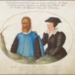 Petrus e Catarina Gonsalvus,  por Joris Hoefnagel (Animalia Rationalia et Insecta, Plate I, circa 1580, Washington, National Gallery of Art).