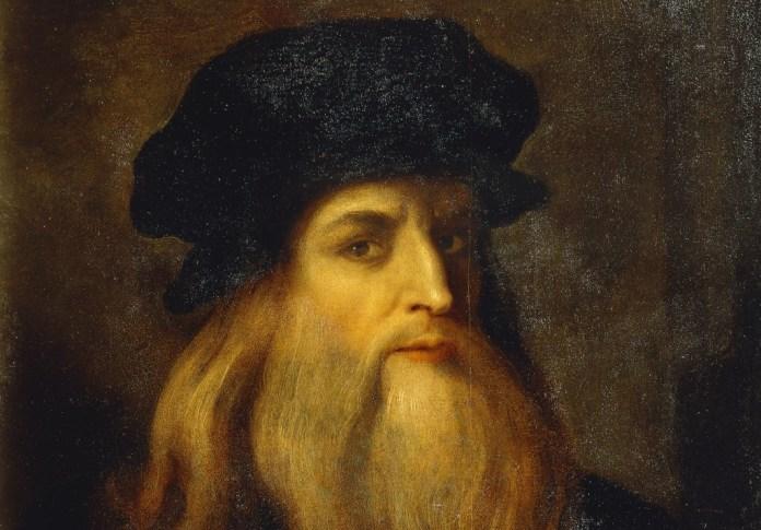 Presumido Auto-retrato de Leonardo da Vinci. Florença, Galleria Degli Uffizi