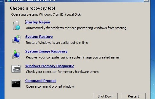Reparar Windows 7 con Windows 7 System Recovery Discs