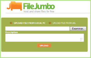 Almacenar archivos en FileJumbo