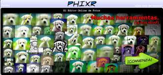 Editar fotos con Phixr
