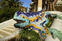20839792-lizard-in-park-guell-in-barcelona-spain-stock-photo