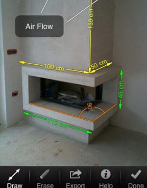 Imagem do aplicativo My Measures para medir móveis e espaços
