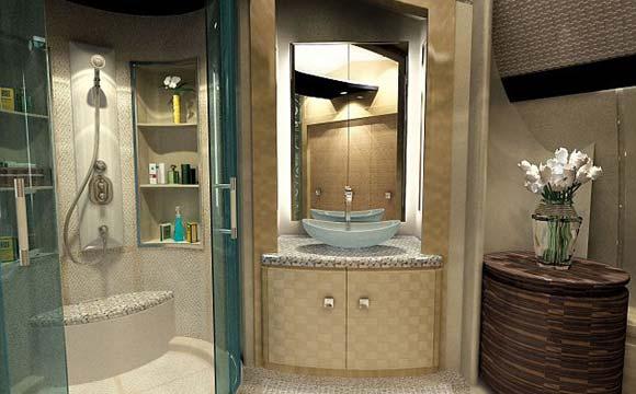Os jatos vêm com banheiros personalizados e luxuosos