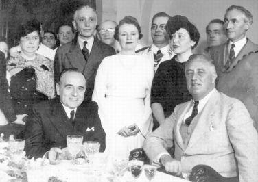 Getúlio Vargas e o presidente Franklin Roosevelt. Crédito: portaldoprofessor.mec.gov.br