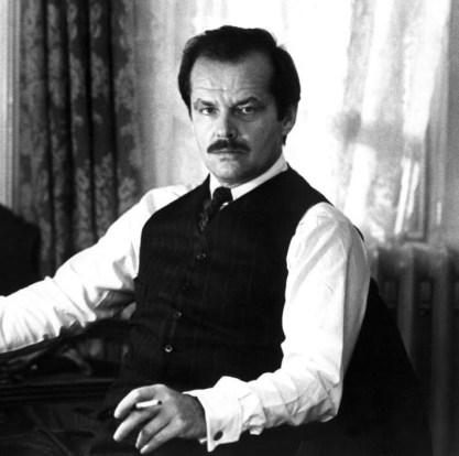Jack Nicholson interpreta o dramaturgo estadunidense Eugene O'Neill em Reds, 1981. Crédito: IMDb.