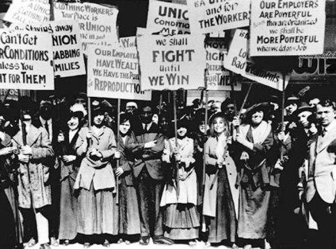 Protestos de mulheres por direitos nos EUA. Crédito: Crédito: PROUFU.ru