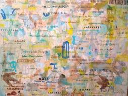 """Brasil/PB"" Mista sobre tela, 1,45 x 1,10, 2019. Crédito: arquivo Hélio Vianna."