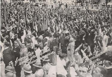 Manifestações de Membros da Ação Integralista Brasileira de Niterói, em comemoração a derrota da Intentona Comunista de 1935. Crédito: www.reddit.com/