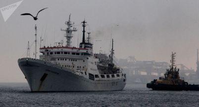 O navio Admiral Vladimirski. Crédito: Vitali Ankov/Sputnik Brasil.