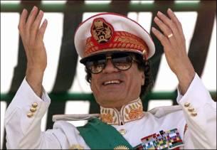 Muammar Mohammed Abu Minyar al-Gaddafi. Crédito: Quiabo Doido.