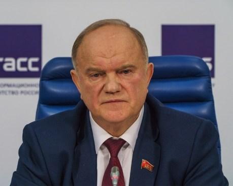 Gennadi Ziuganov, ex-candidato a presidente pelo Partido Comunista em 1996, 2000, 2008 e 2012; líder do mesmo partido hoje, e deputado federal na Duma de Estado. Crédito: Wikipedia - foto tirada no TASS press center em Moscou.