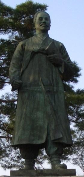 Estátua de Shin Chae Ho (1880–1936), no Grand Park de Seoul. Crédito: Wikipedia.