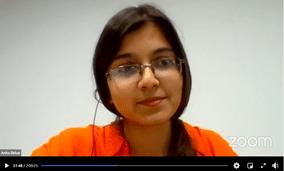 """Anita Dhar, pós-graduanda da Universidade da Amizade dos Povos da Rússia e uma especialista vinculada à """"BRICS: Mundo das Tradições"""". Crédito: BRICS-Mundo das Tradições."""