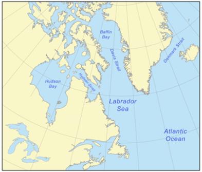 Labrador Sea. Credit: Wikipedia.