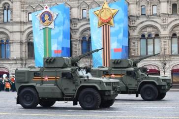 Os veículos blindados Typhoon-VDV participam do Desfile do Dia da Vitória na Segunda Guerra Mundial em Moscou, Rússia, em 9 de maio de 2021. Crédito: Ramil Sitdikov / Sputnik.