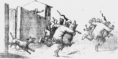 Charges retratam chineses: no campo, ameaça à lavoura; na cidade, ladrões de galinha Crédito: Biblioteca Nacional/ Agência Senado.