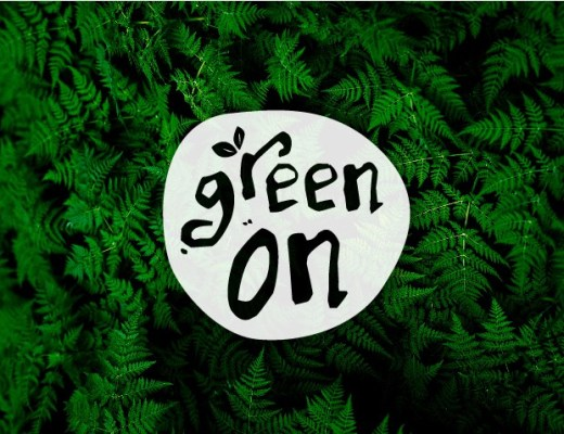 green on