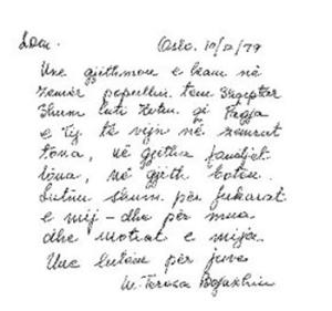Thënie dhe poezi të Nënë Terezës ( 18 vjet pa Nene Terezen