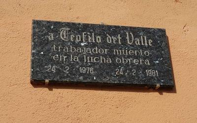 Muerto el dictador no se acabó la rabia. El asesinato de Teófilo del Valle en febrero de 1976.