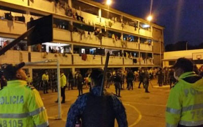 Colombia/ Reclusos protestan a nivel nacional por cuatro casos de Covid-19 en La Picota