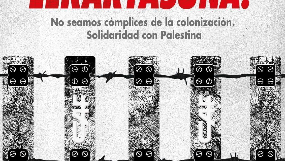 Bájate del tren del apartheid israelí