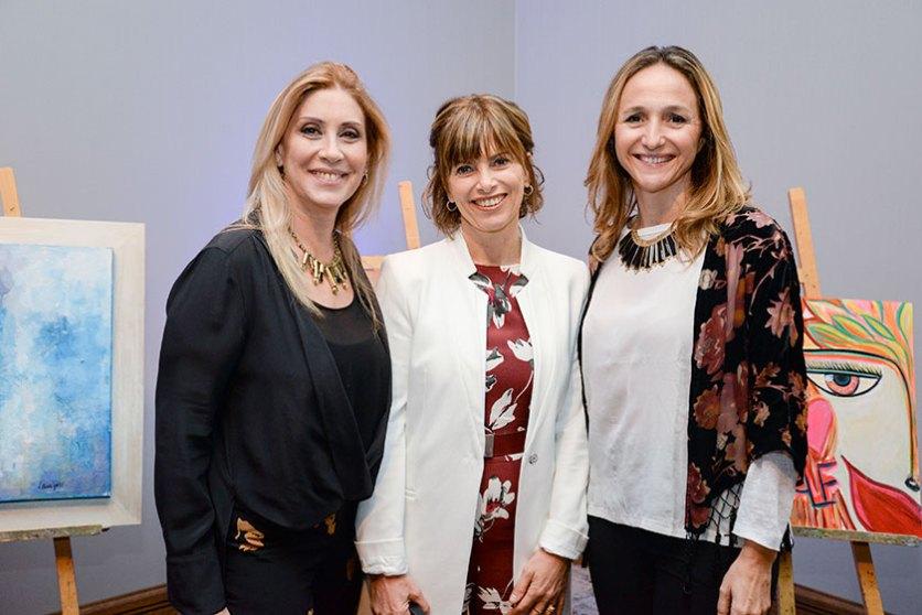 Elena Tejeira, Silvina Rocha y Verónica Raffo.