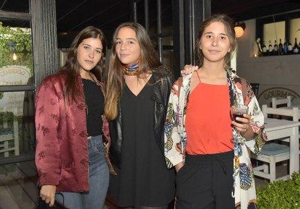 Delfina Vargas, Delfina Guerra y Carolina Raquet.