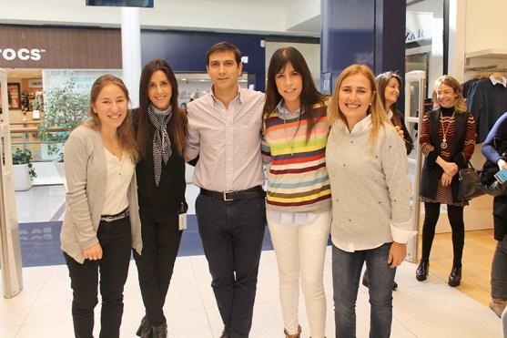 Inés, Lorena Bello, Federico Carballal, Maria Arechavaleta y Cecilia Alves
