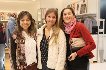 Yisela Moreira, Ximena Flores y Rosina Campomar.