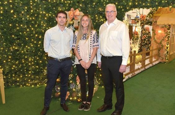 Autoridades de Punta Carretas Shopping: Federico Carballal, Vanina Friedmann y Mauricio Oppenheimer.