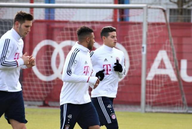James Rodríguez volvió a entrenamientos con el Bayern Múnich