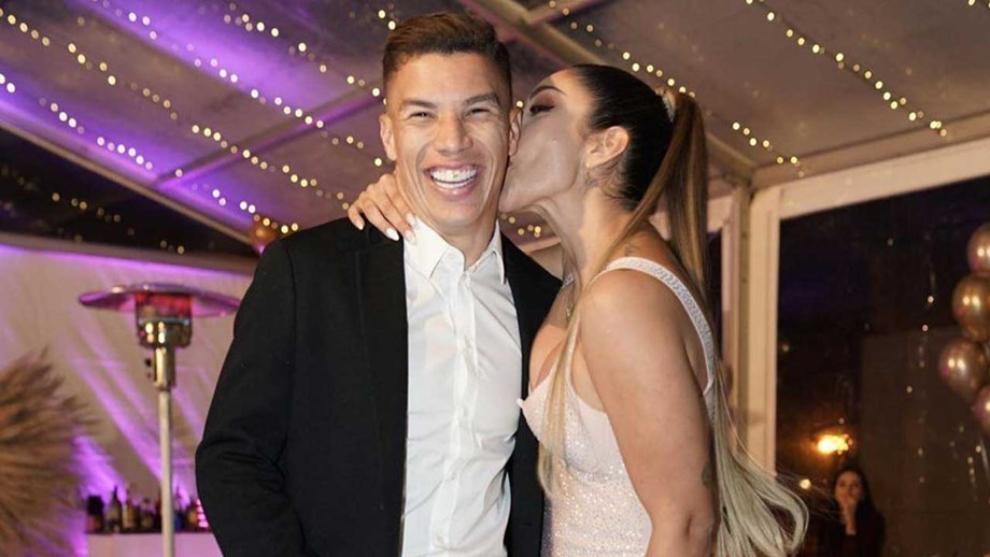 Matheus Uribe da su versión de los hechos en la fiesta de cumpleaños de su esposa
