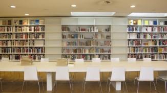 Center shelves filled